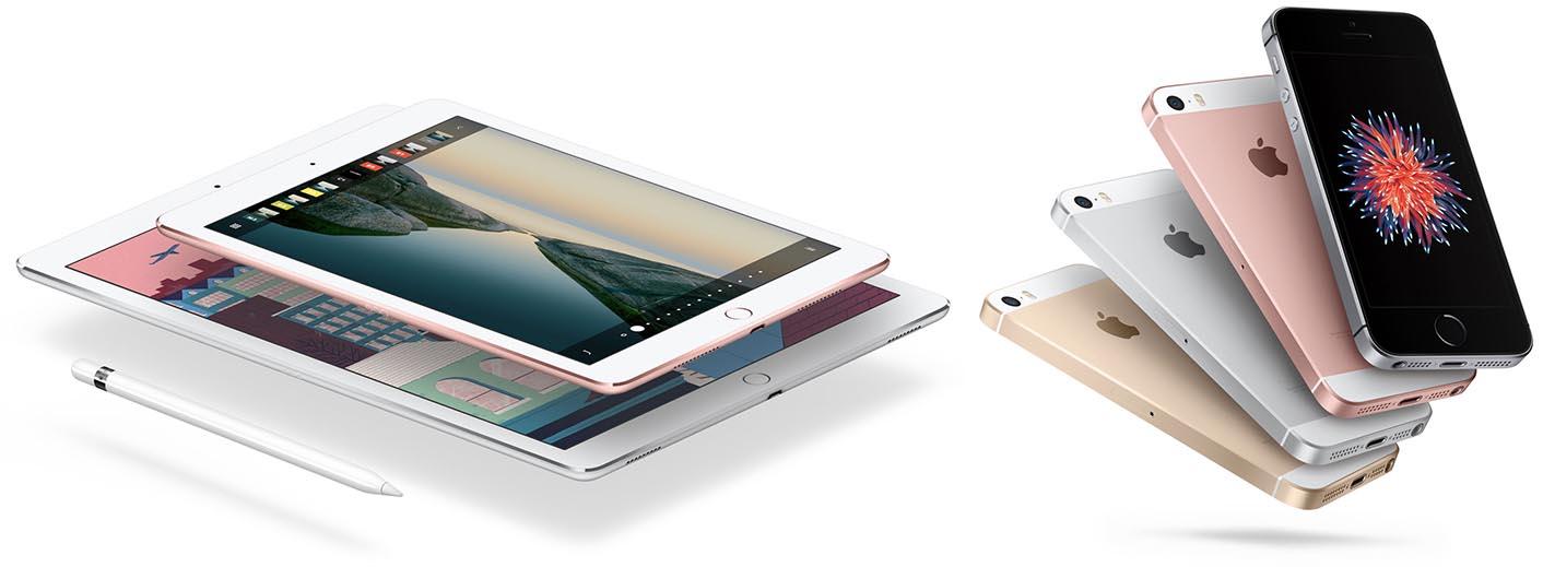iPad Pro iPhone SE