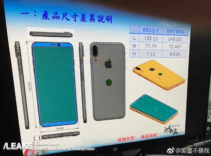 iPhone 8 schéma Touch ID à l'arrière