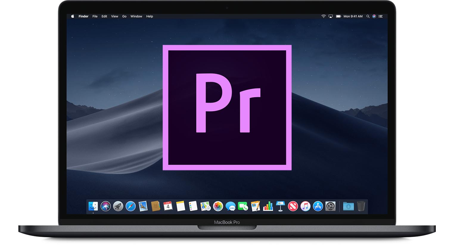 MacBook Pro Premiere Pro logo