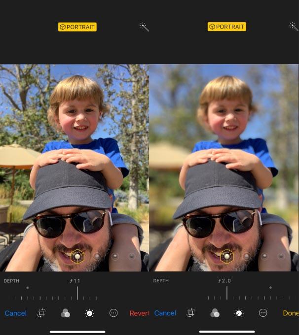 iPhone XS mode portrait