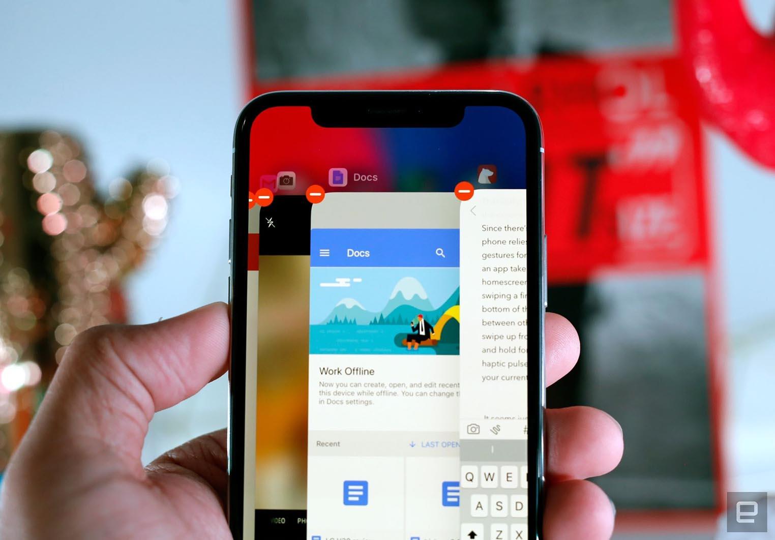 iPhone X multitâches