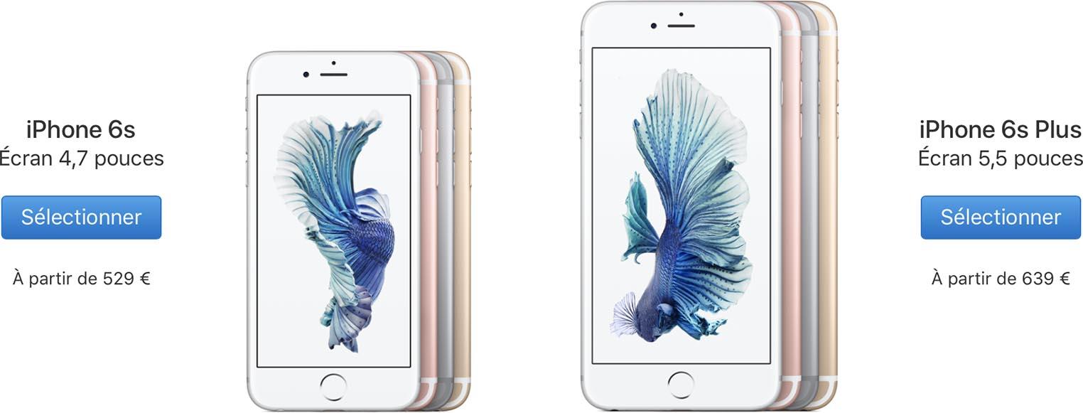 Baisse prix iPhone 6s