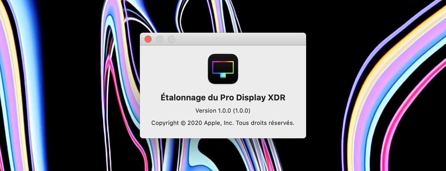 Étalonnage Pro Display XDR