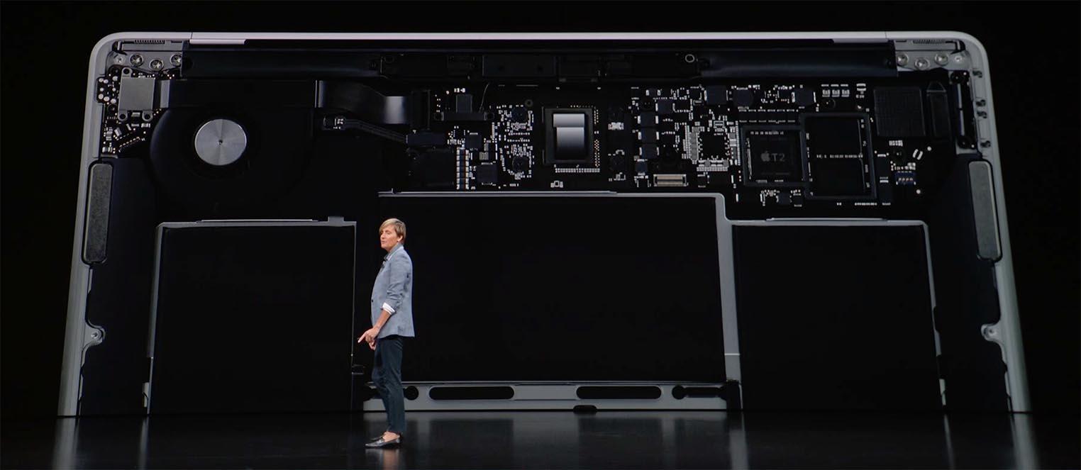 MacBook Air 2018 intérieur