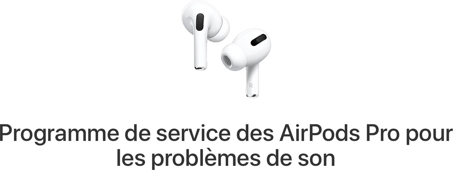 Programme remplacement AirPods Pro