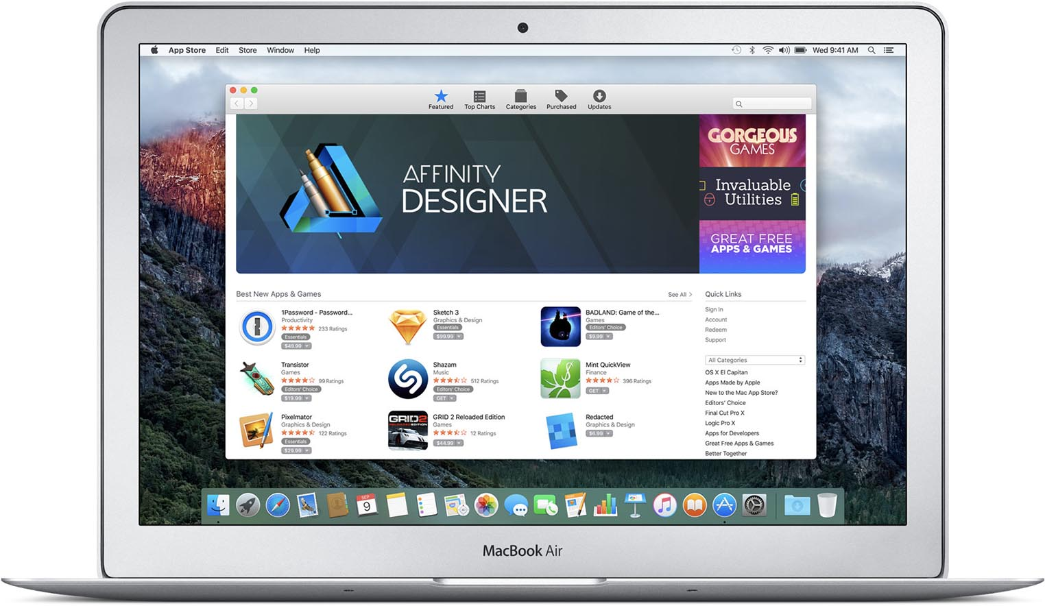 MacBook Air Mac App Store