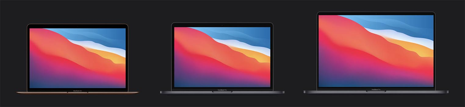 MacBook Air MacBook Pro 13 et 16 pouces
