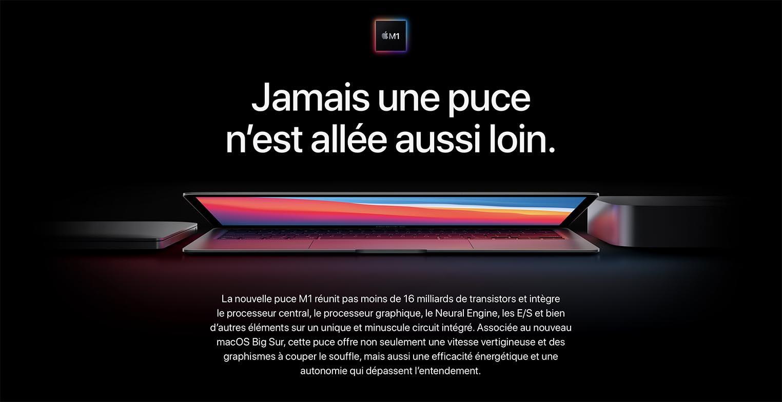 Présentation puce Apple M1
