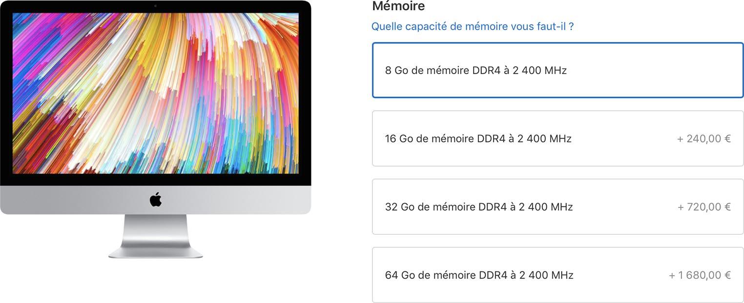 Prix RAM iMac