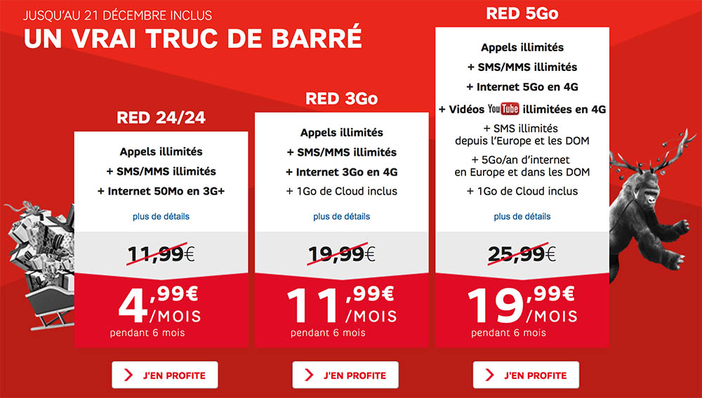 consomac nouvelles promos sur les forfaits red de sfr. Black Bedroom Furniture Sets. Home Design Ideas