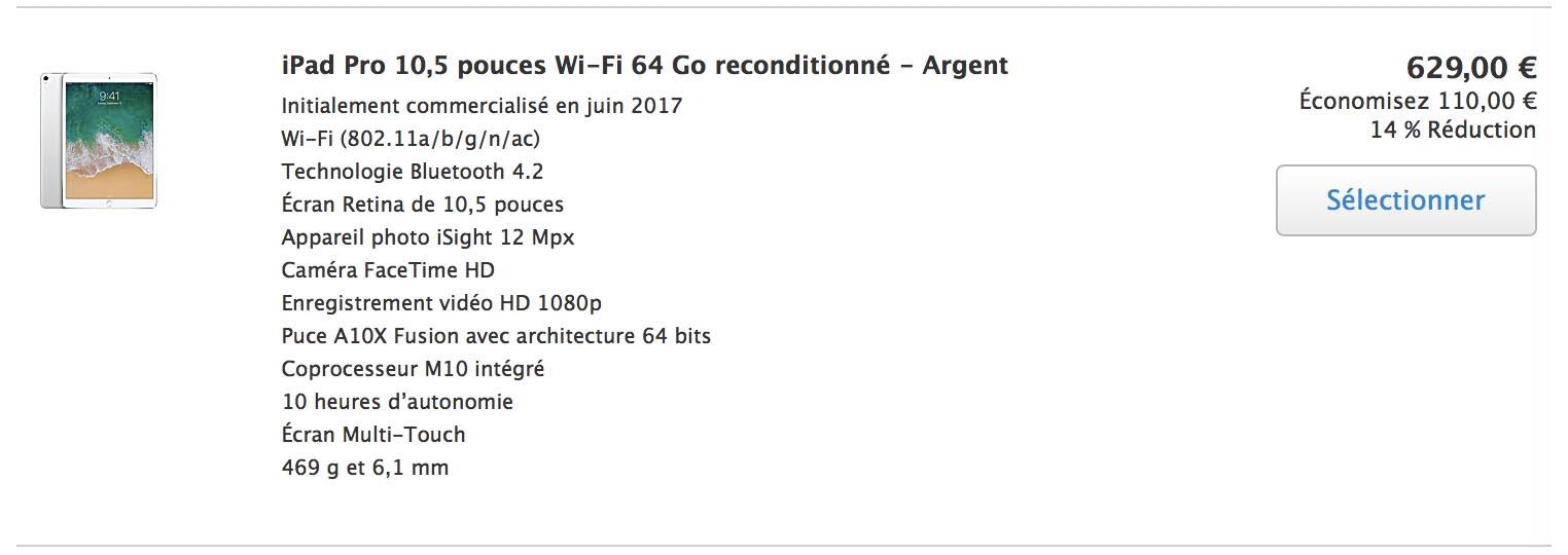 Refurb iPad Pro 10,5