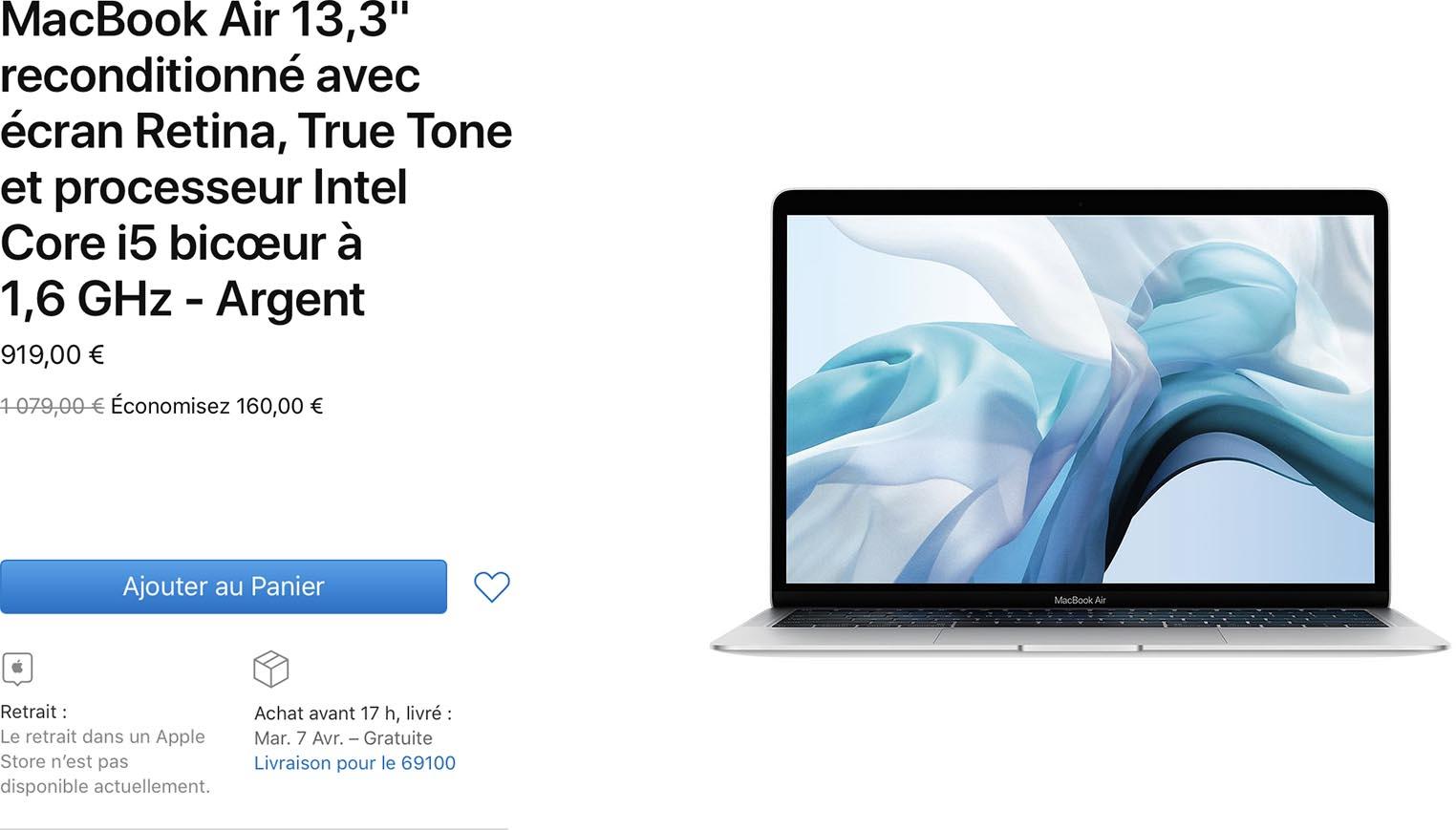 MacBook Air 2019 Refurb Store