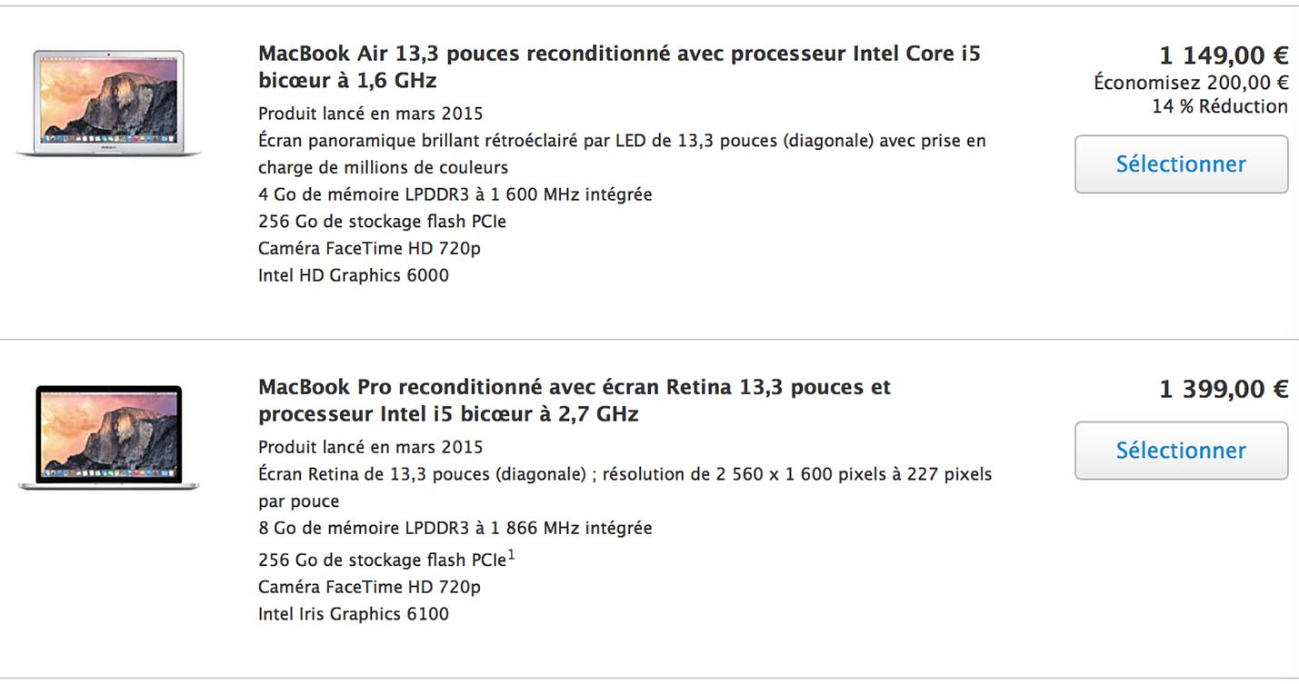 Refurb MacBook Air Pro