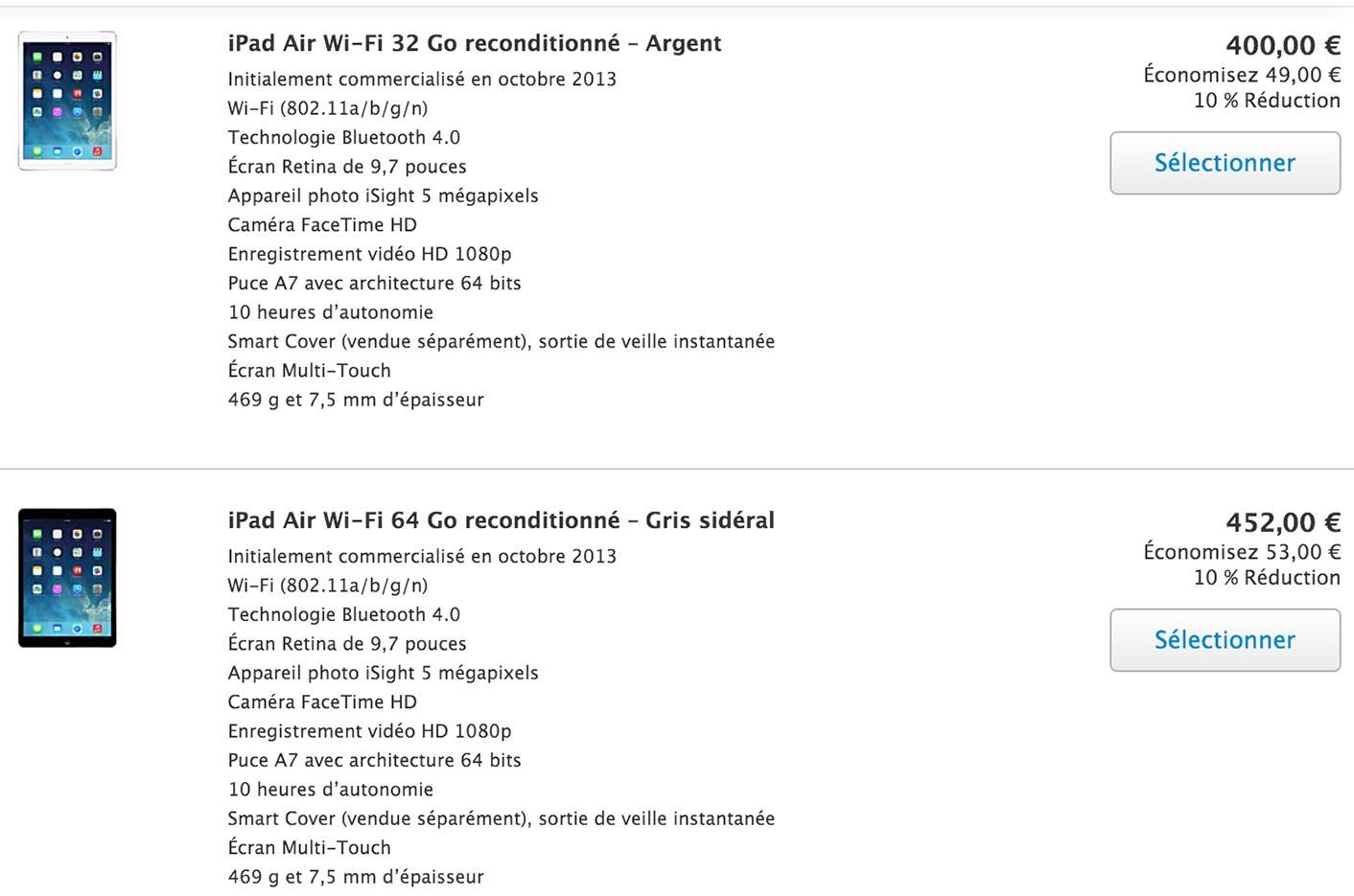 Refurb Store iPad
