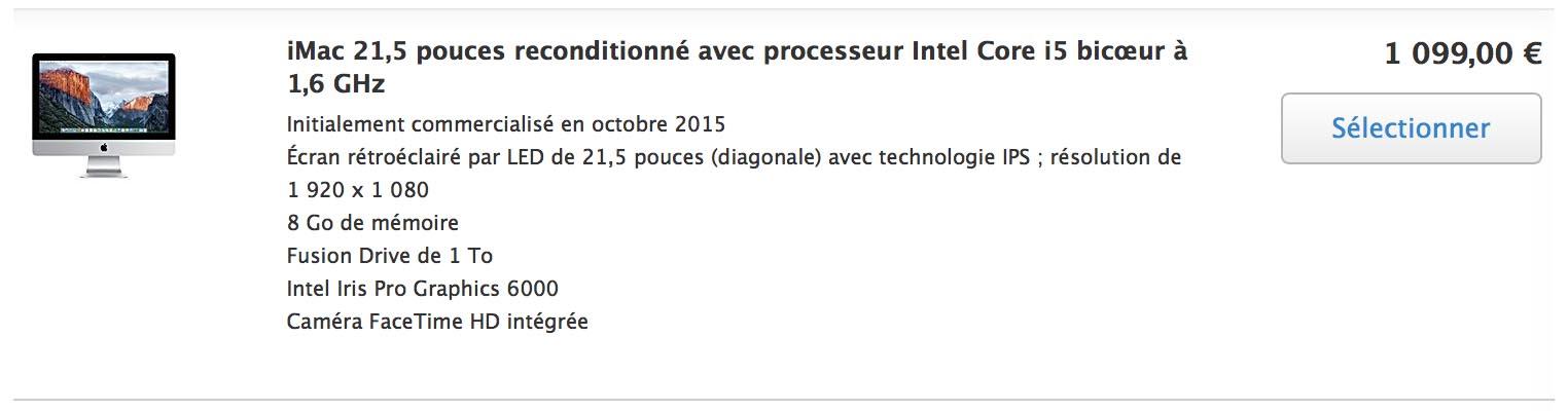 iMac 2015 Refurb Store