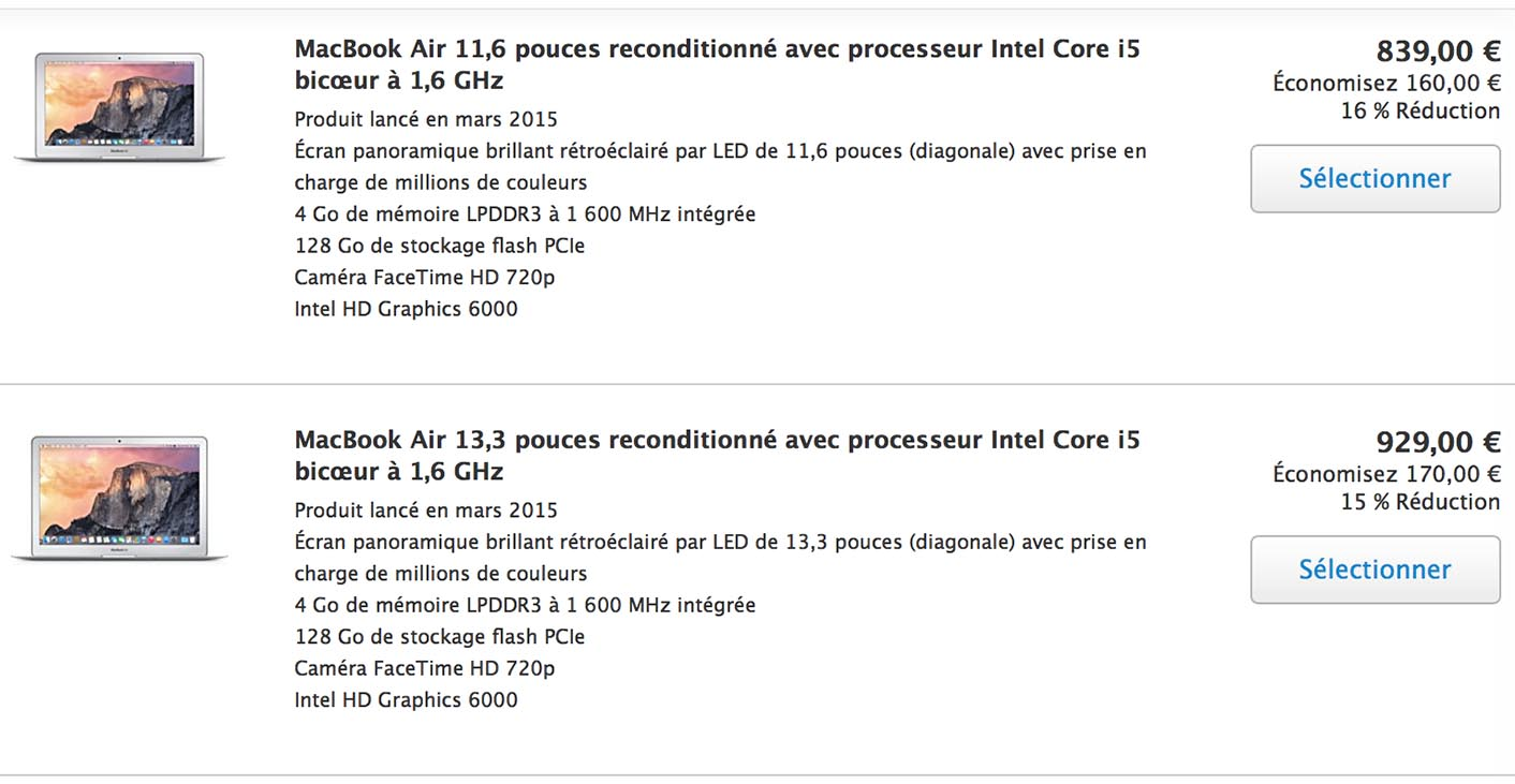 Refurb MacBook Air