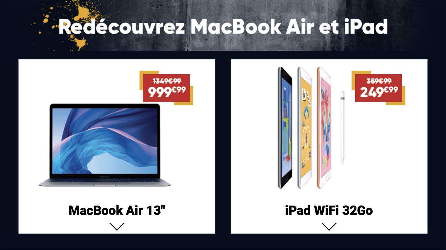 Offre reprise MacBook Air iPad Fnac