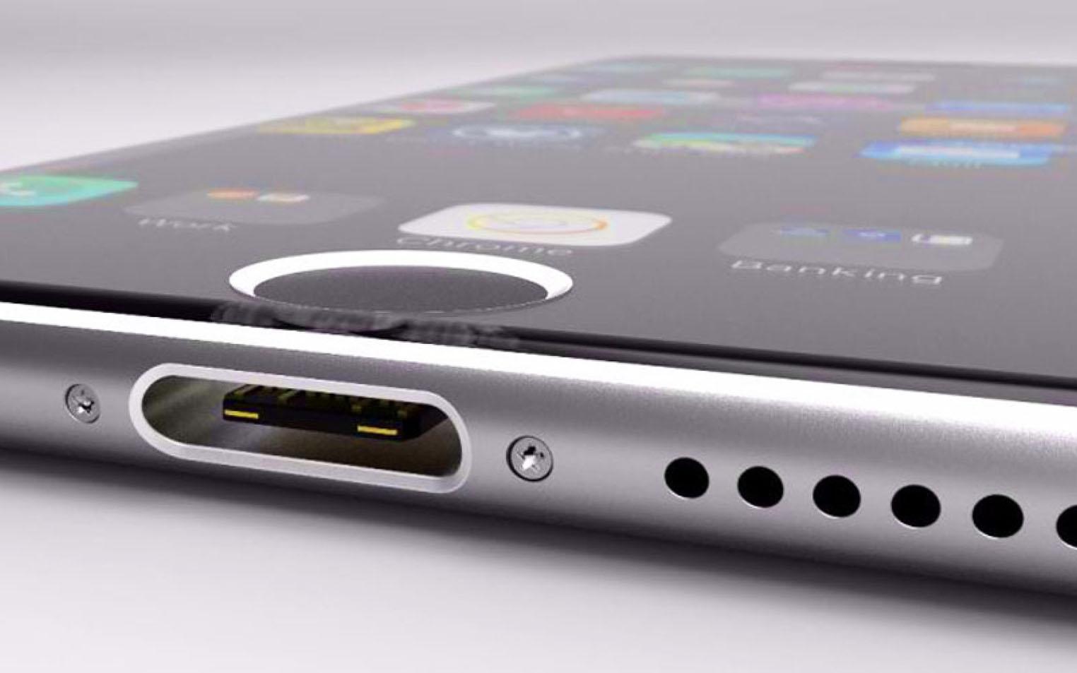 iPhone USB-C concept 3D