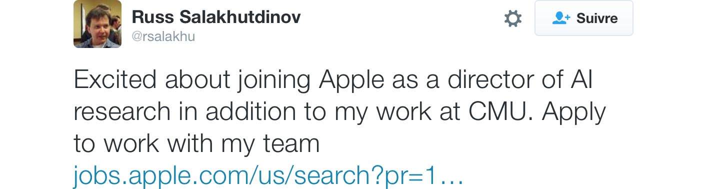 Ruslan Salakhutdinov tweet