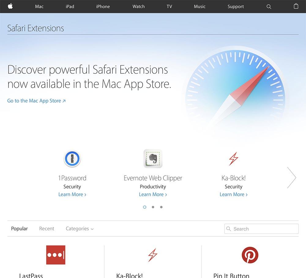 Consomac : Bientôt la fin pour les vieilles extensions de Safari
