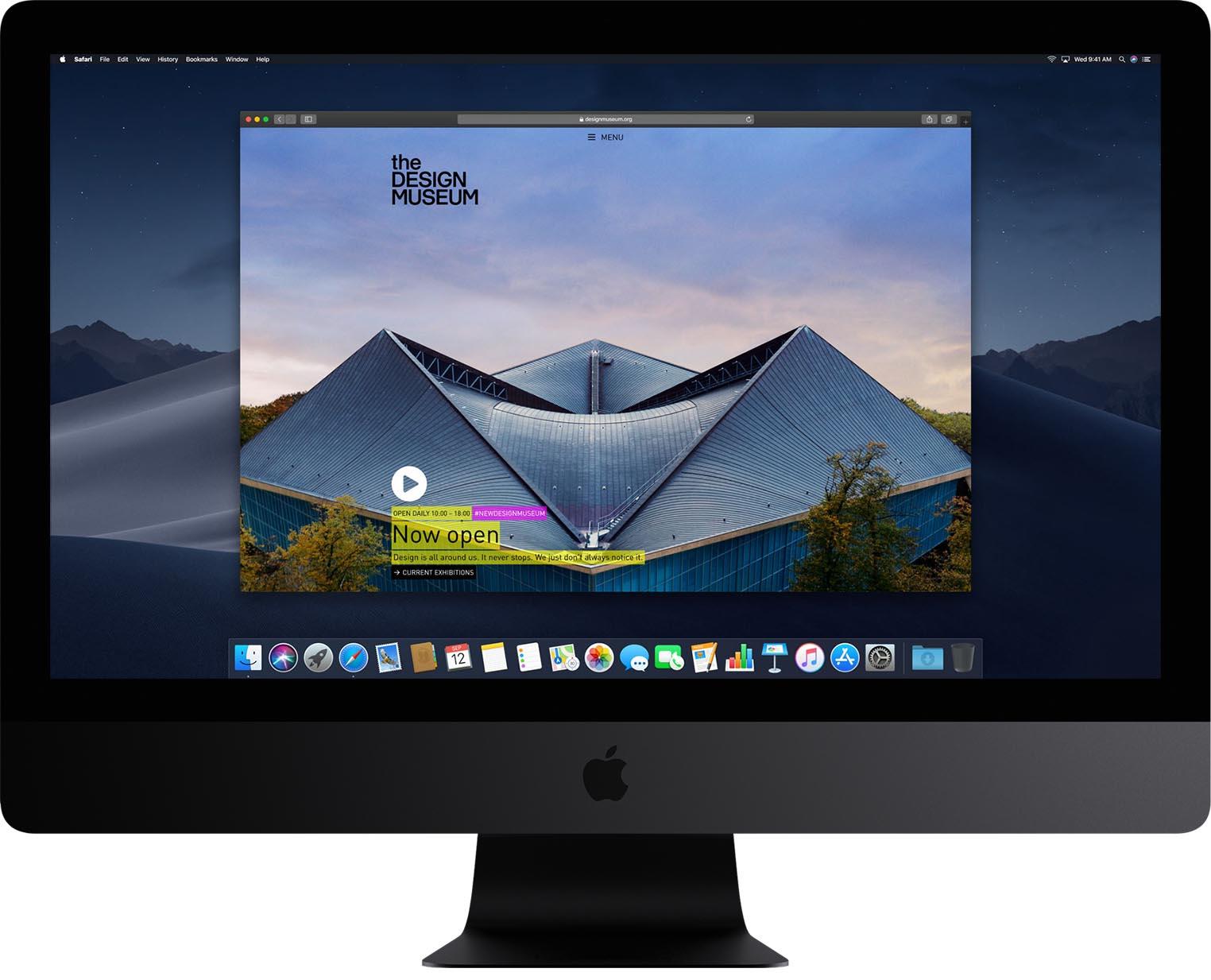 Safari iMac Mojave