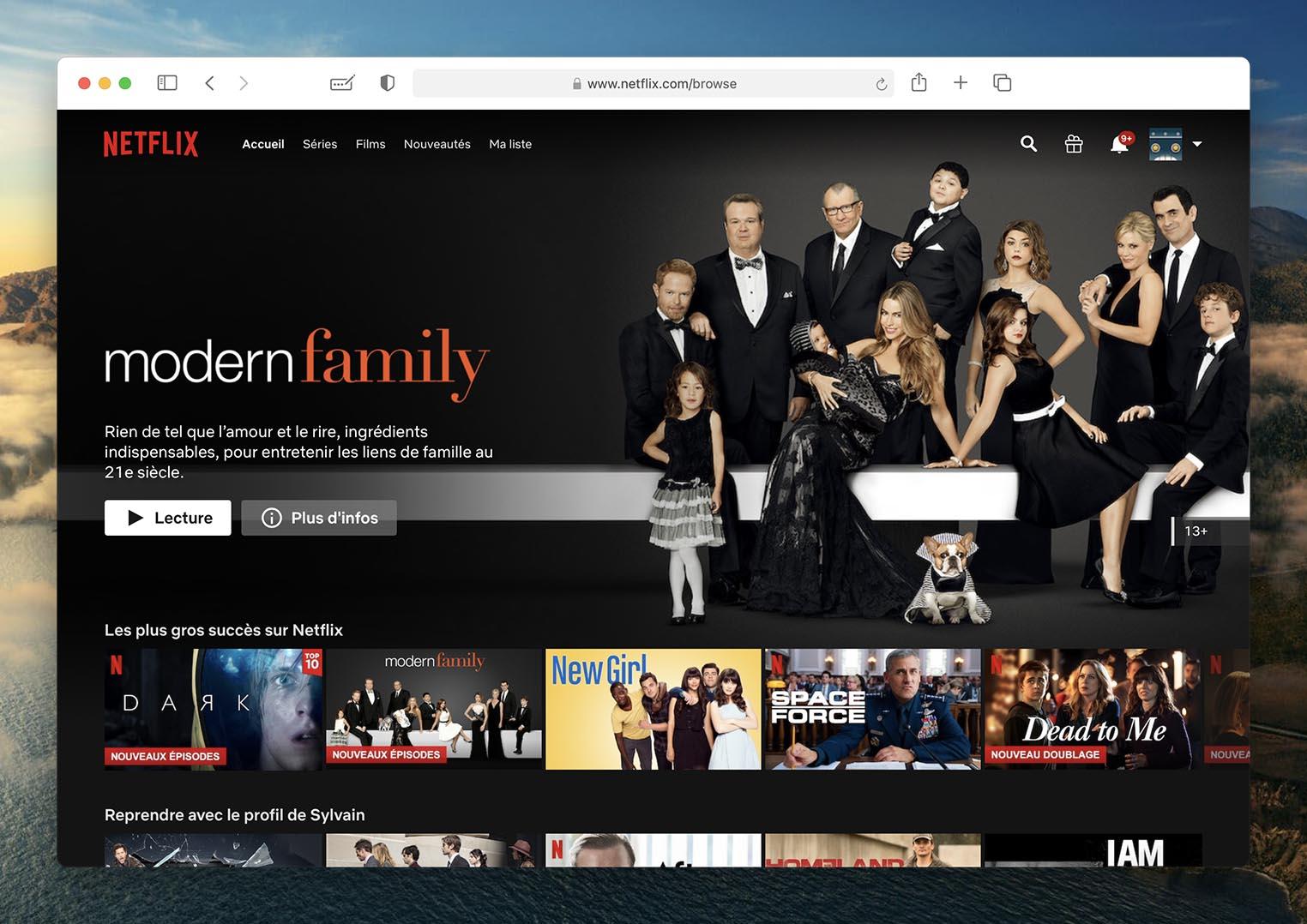Safari 14 Big Sur Netflix