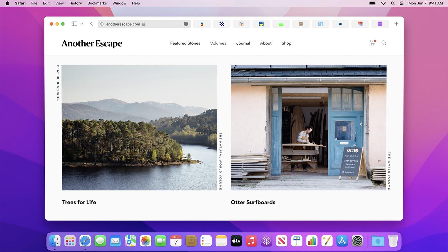 Safari 15 macOS Monterey