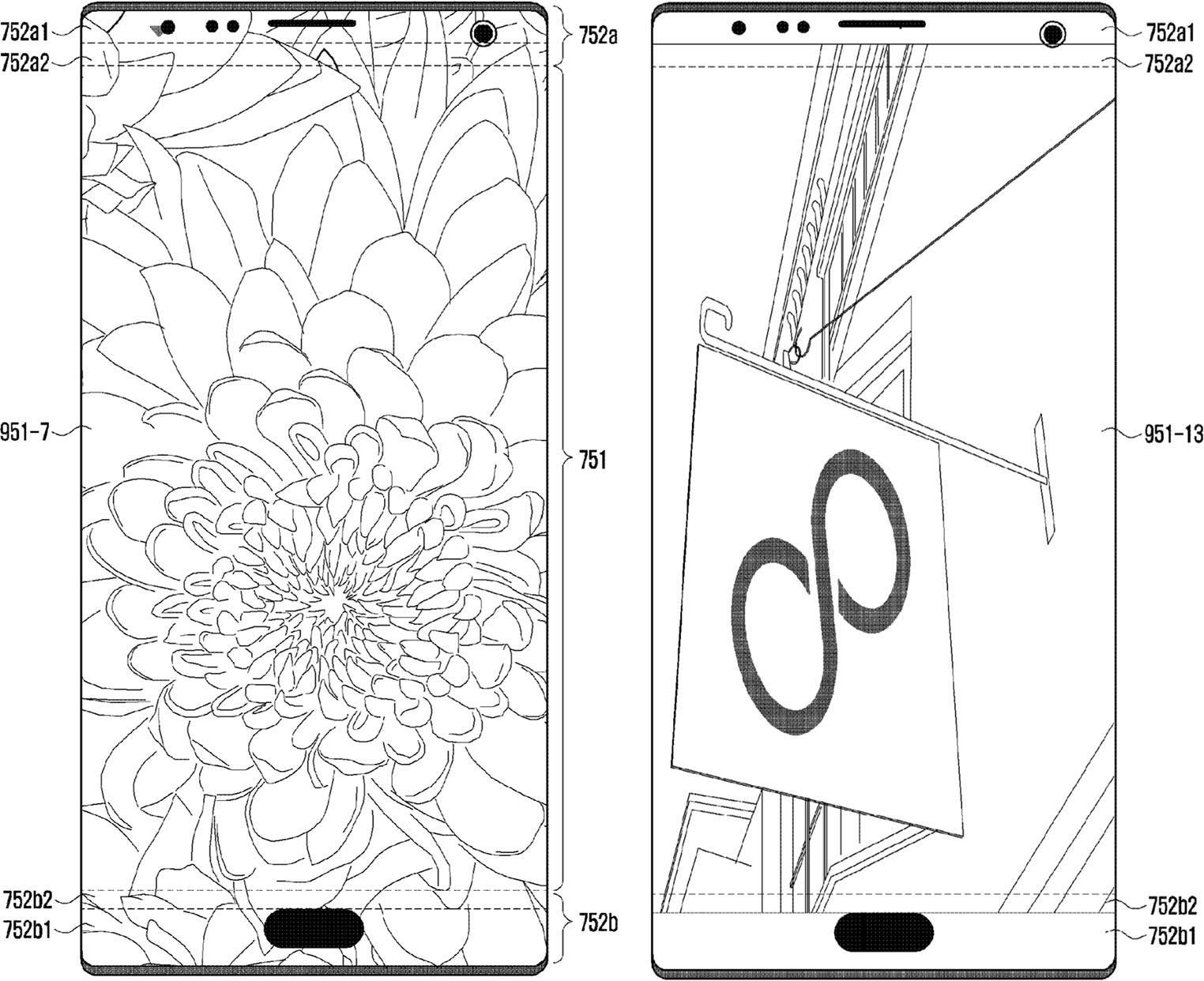 Samsung brevet capteurs dans l'écran