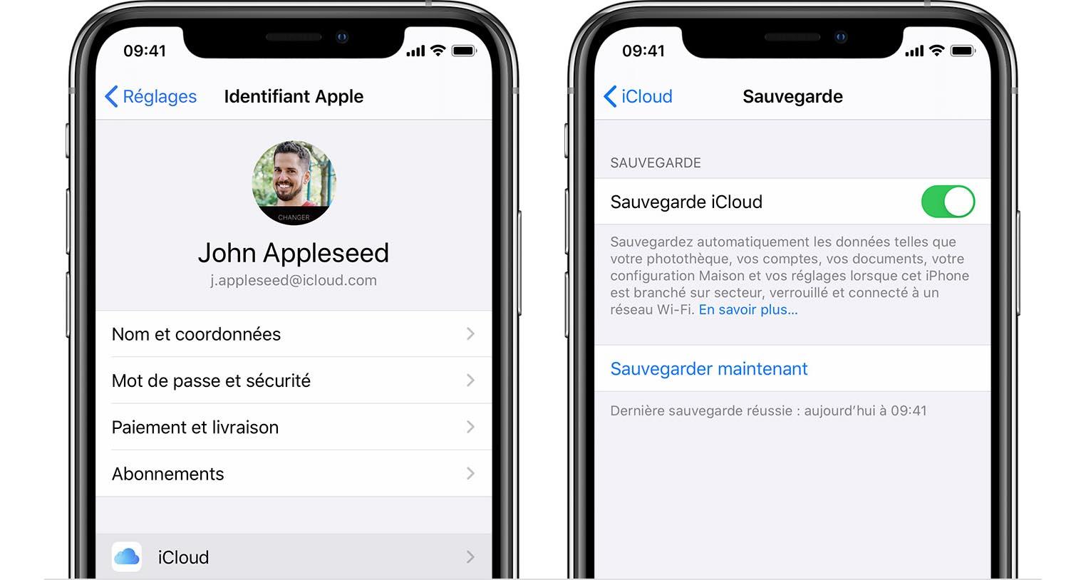 Sauvegarde iCloud iPhone