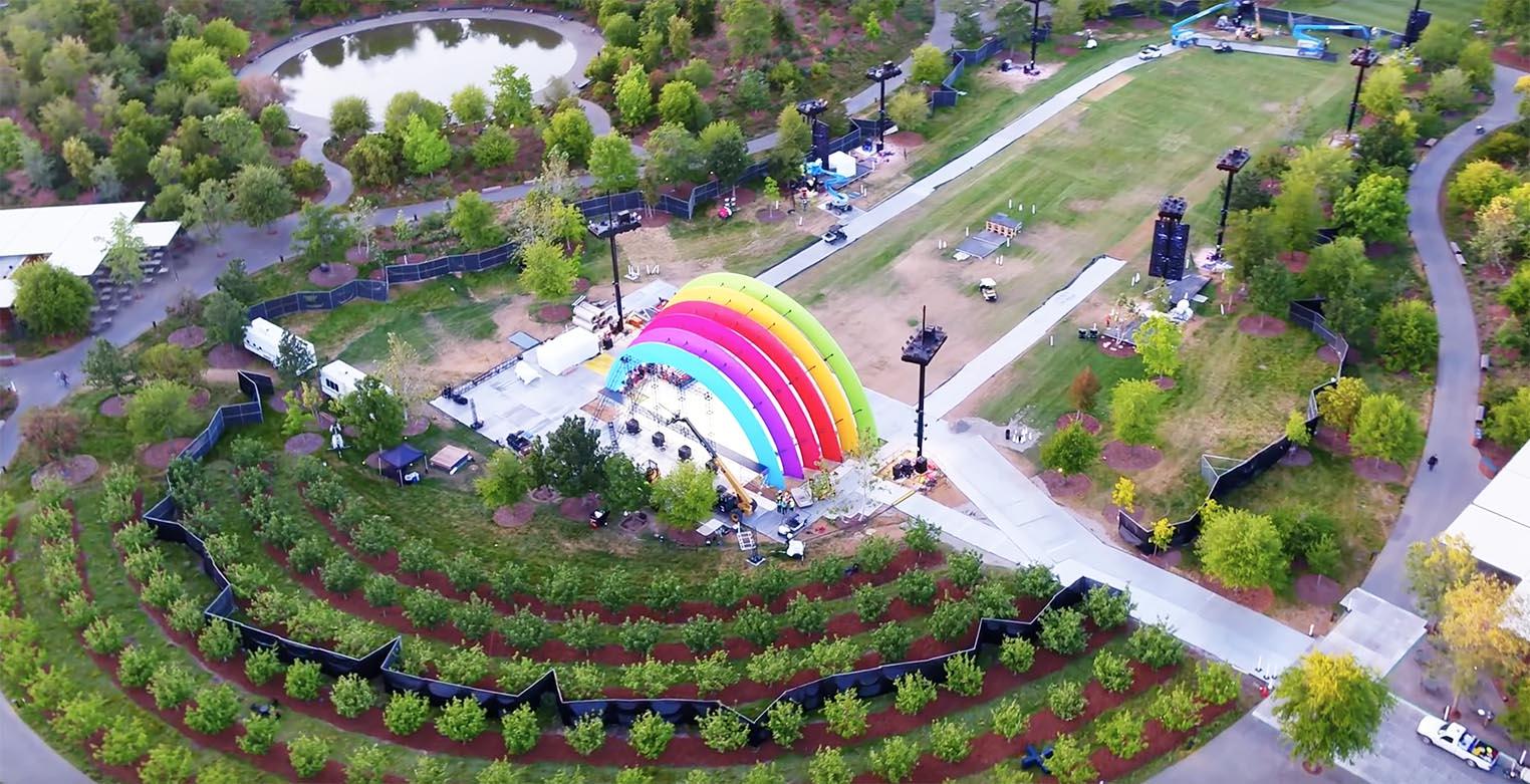 Scène multicolore Apple Park