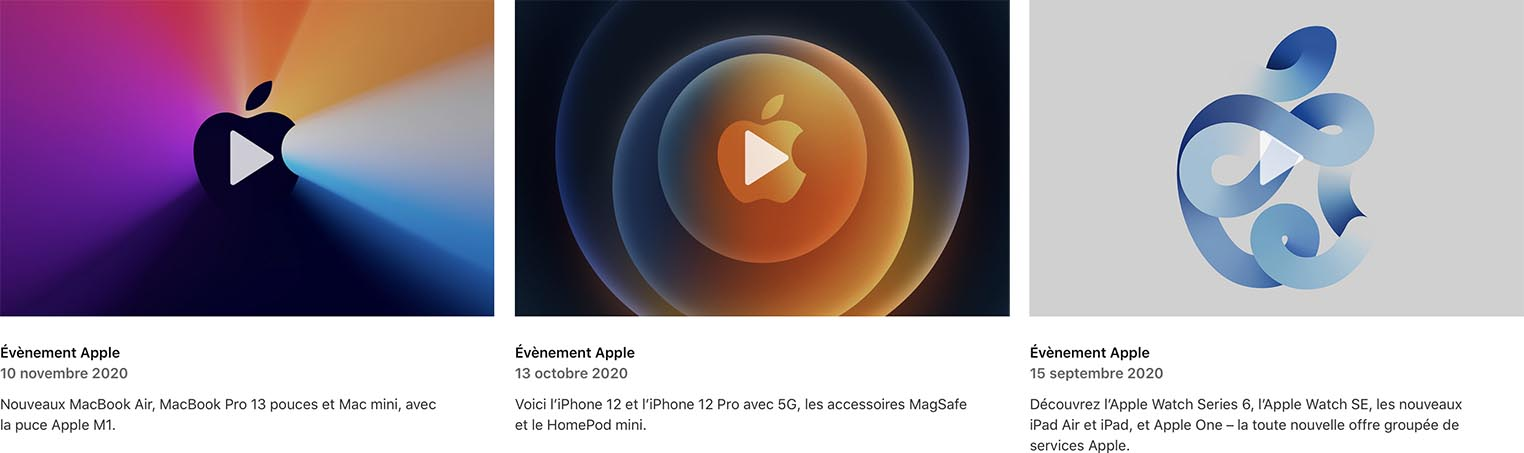 Apple Events automne 2020