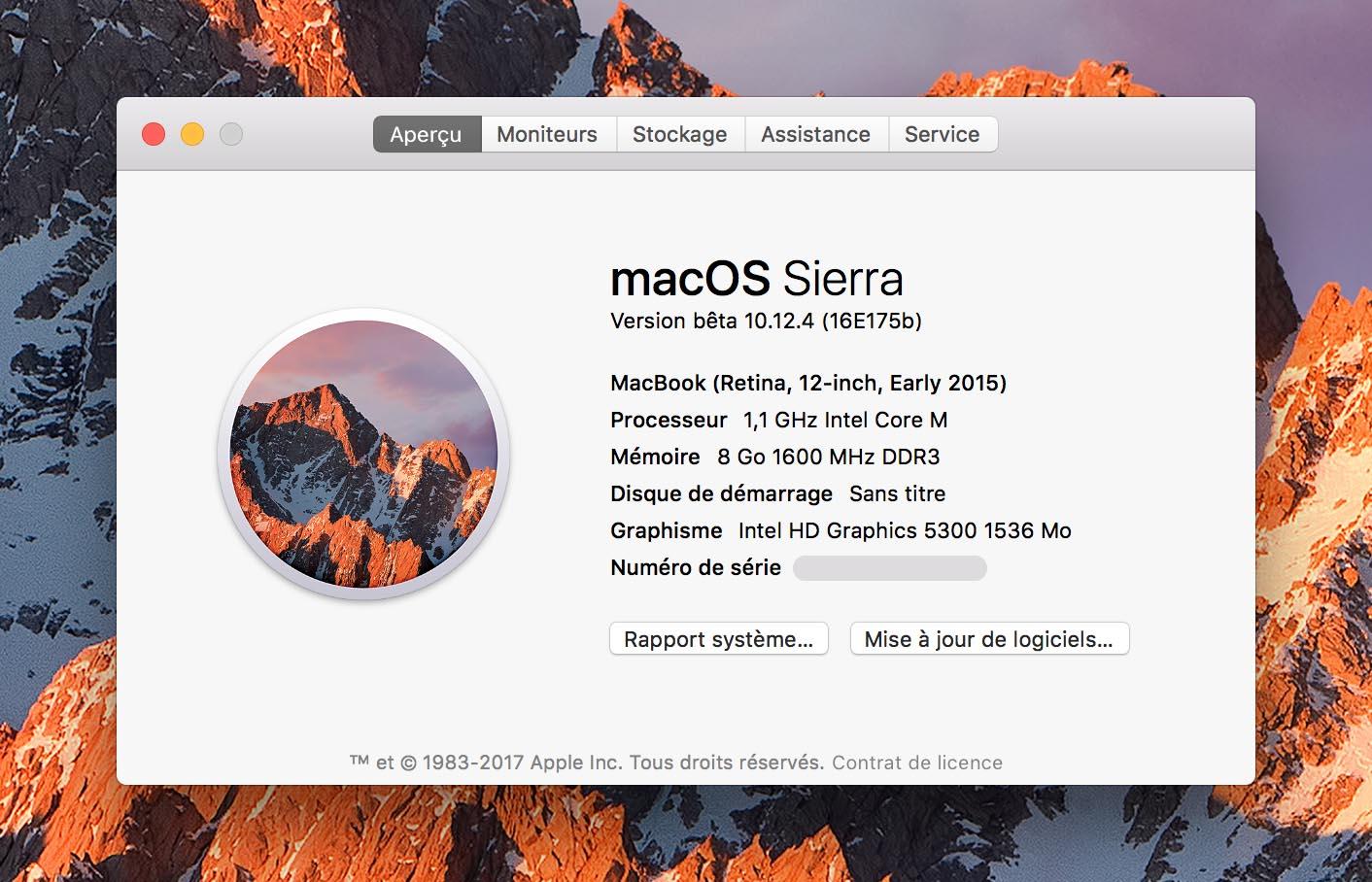 macOS Sierra 10.12.4 Beta 4