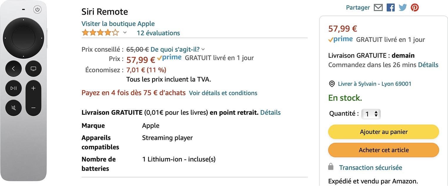 Siri Remote 2 Amazon