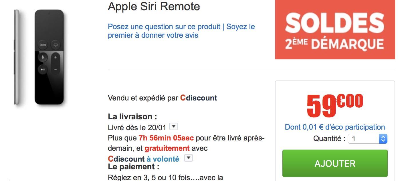 Siri Remote promo CDiscount