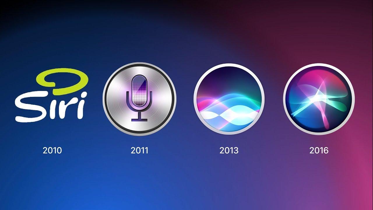 Évolution logos Siri