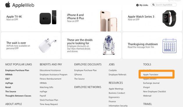 Apple Translator Apple Web