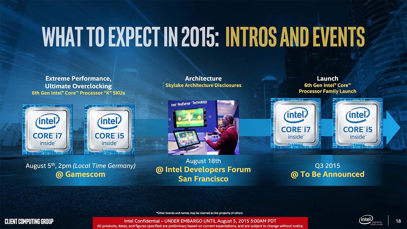 Intel Skylake events
