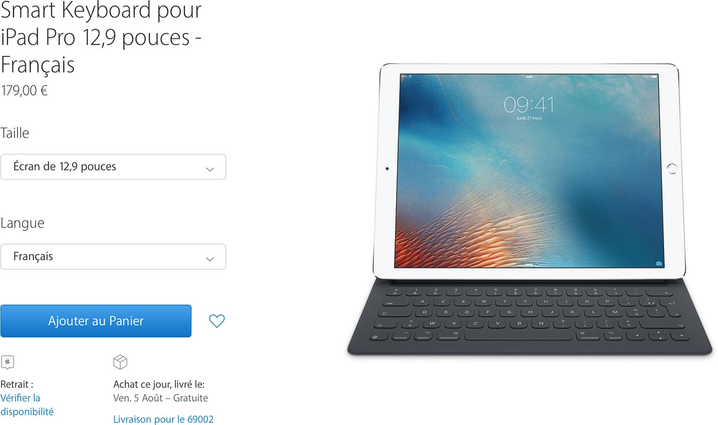 Smart Keyboard AZERTY iPad Pro