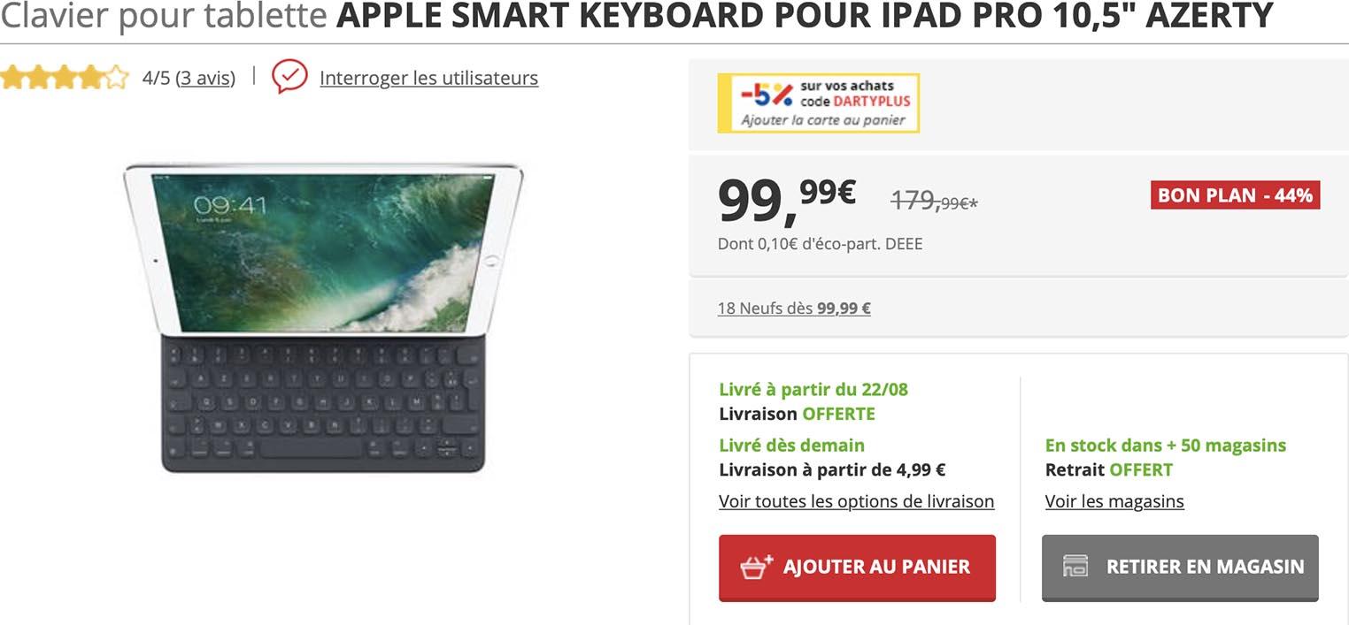 Smart Keyboard iPad Darty