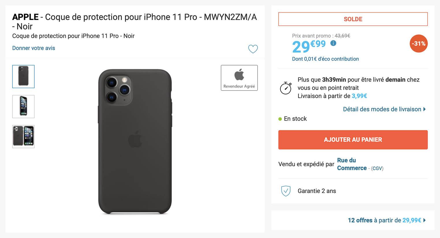 Soldes étui iPhone Rue du Commerce