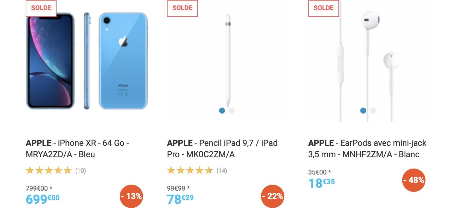 Soldes Apple Rue du Commerce