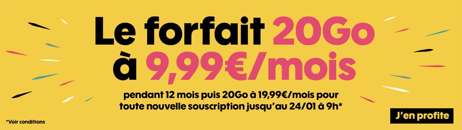 d2a317142bd8f7 Consomac   Le forfait 20 Go de Sosh à 9,99 € par mois