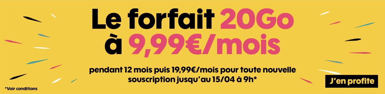 Promo Forfait Sosh 20 Go