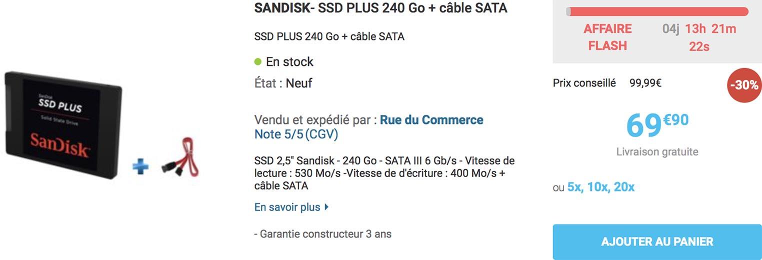 SSD Plus SanDisk Rue du Commerce