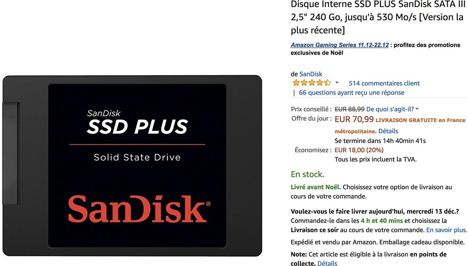 SSD SanDisk Amazon