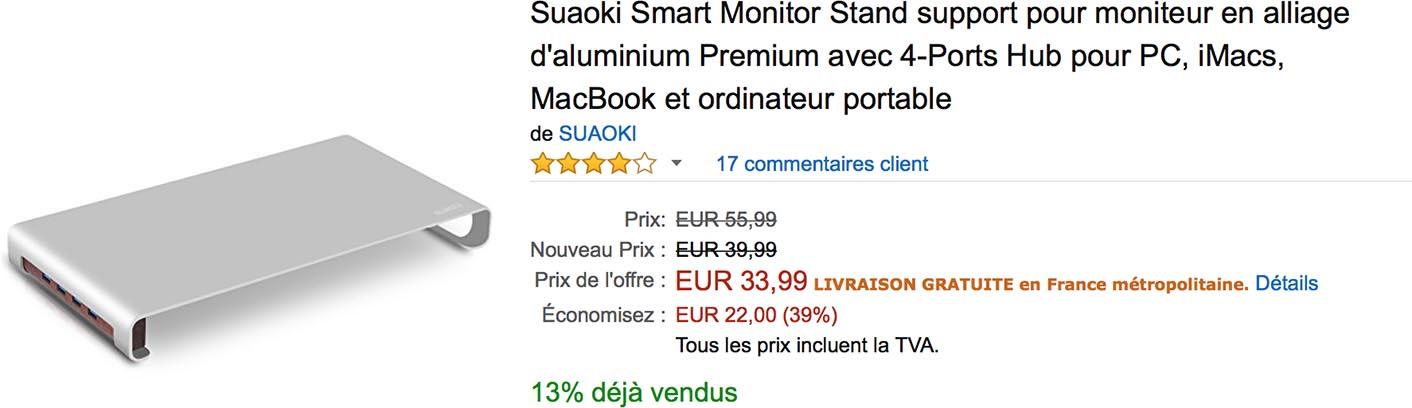 Stand hub USB iMac