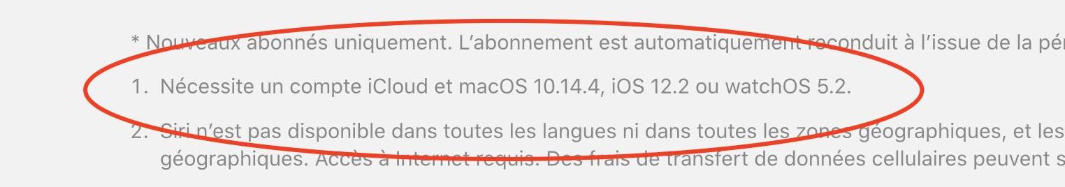 iOS 12.2, macOS 10.14.4 et watchOS 5.2