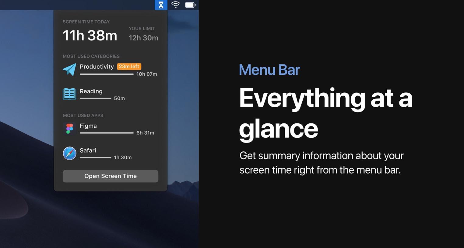 Concept Temps d'écran macOS 10.15