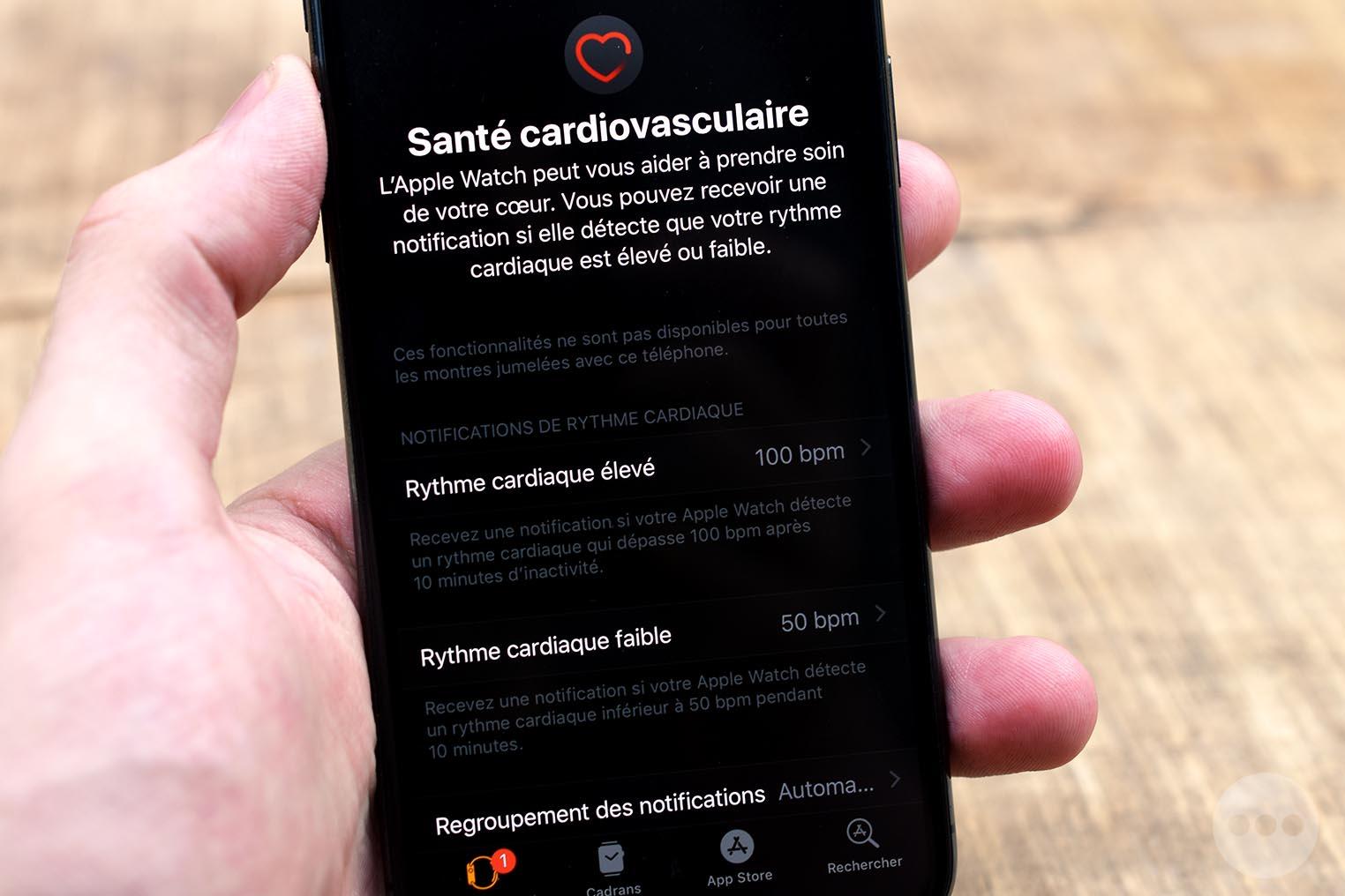 Apple Watch 4 santé cardiovasculaire