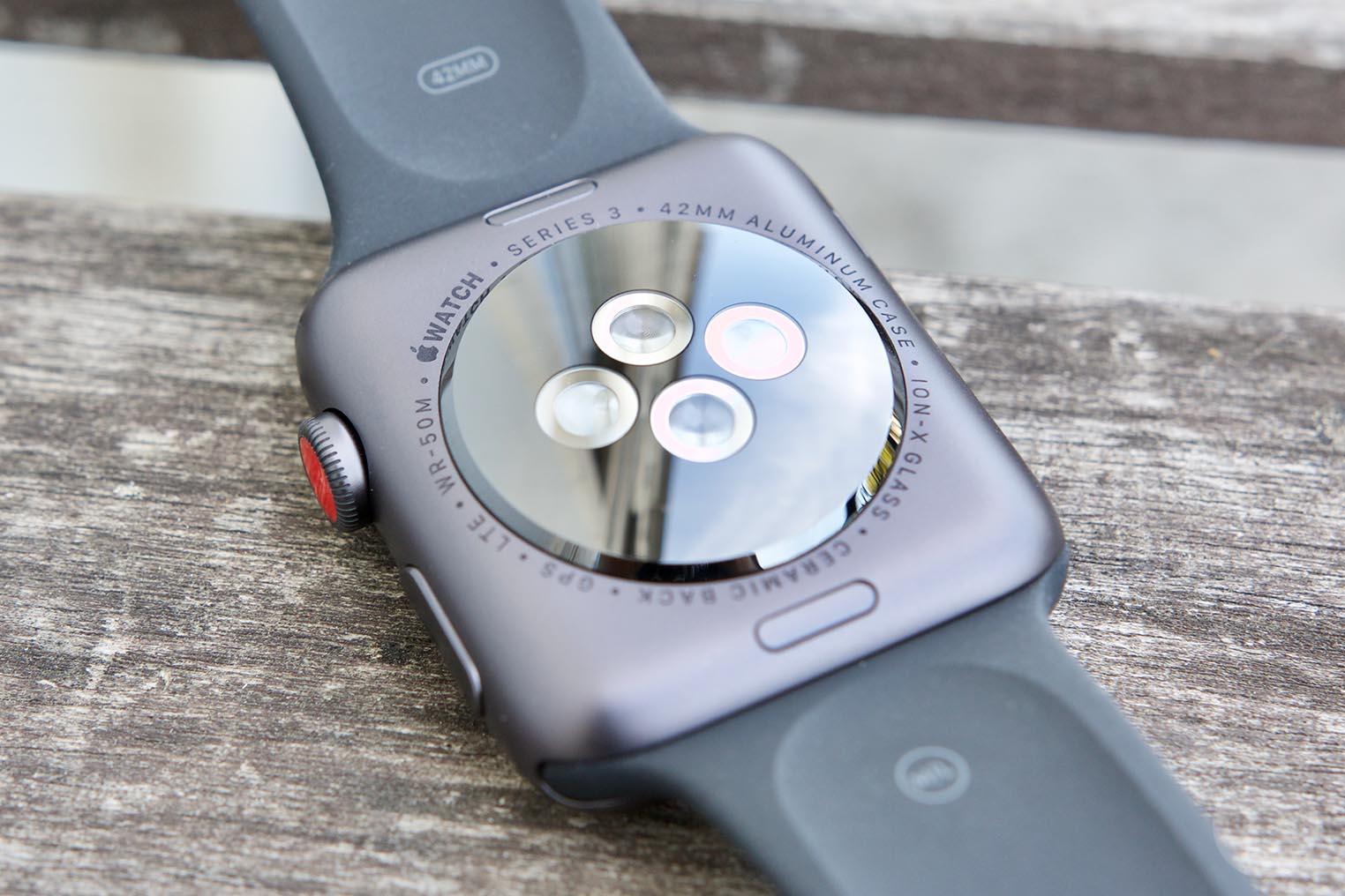 Apple Watch 3 capteurs arrière